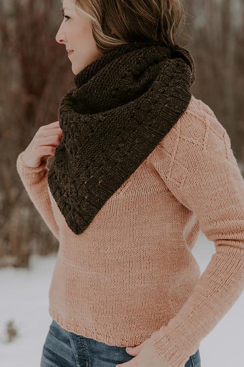 Winter Trellis Sweater & Making Comfort Shawl