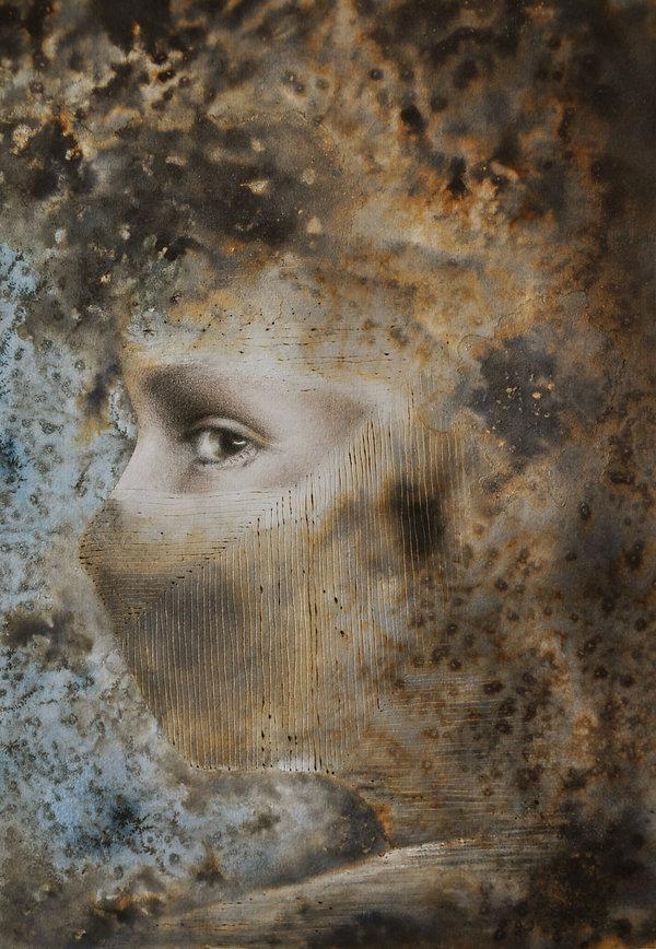 Ruth Wallace, Isolation III, mixed media