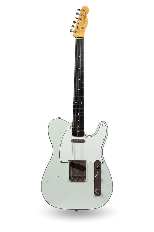 """New 2018 Fender Custom Shop '60 Custom Telecaster Olympic White """"Tuxedo"""""""