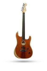 New 2020 Fender Limited Edition Acoustasonic Stratocaster Exotic Wood Ziricote