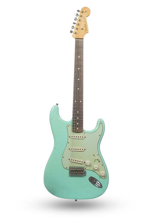 New 2016 Fender Custom Shop '62 Stratocaster Journeyman Relic Surf Green