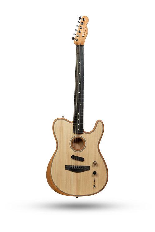 New 2019 Fender American Acoustasonic Telecaster Natural