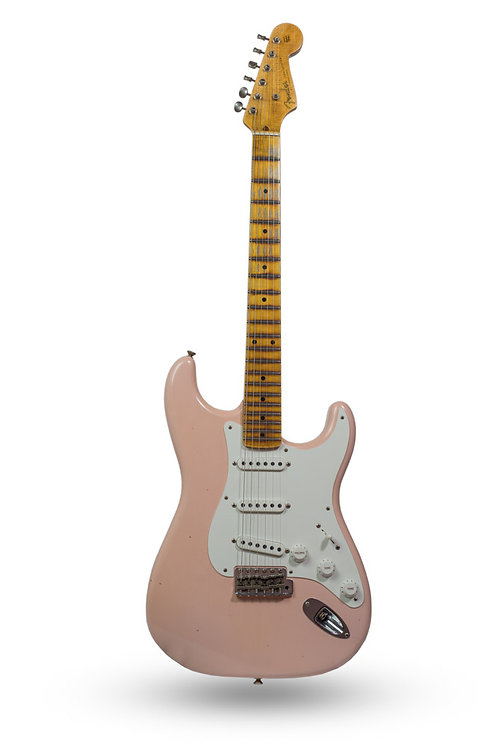 New 2017 Fender Custom Shop '55 Stratocaster Shell Pink Journeyman Relic