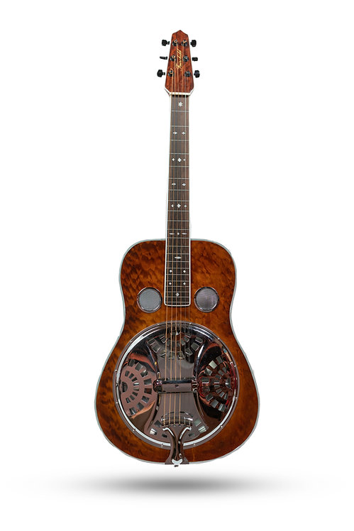 Used Dobro by Fairchild Single-Cone Quilted Maple