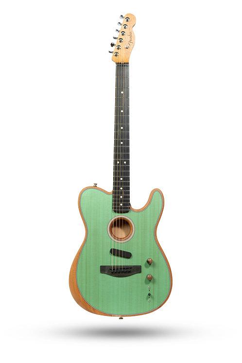 New 2019 Fender American Acoustasonic Telecaster Translucent Surf Green