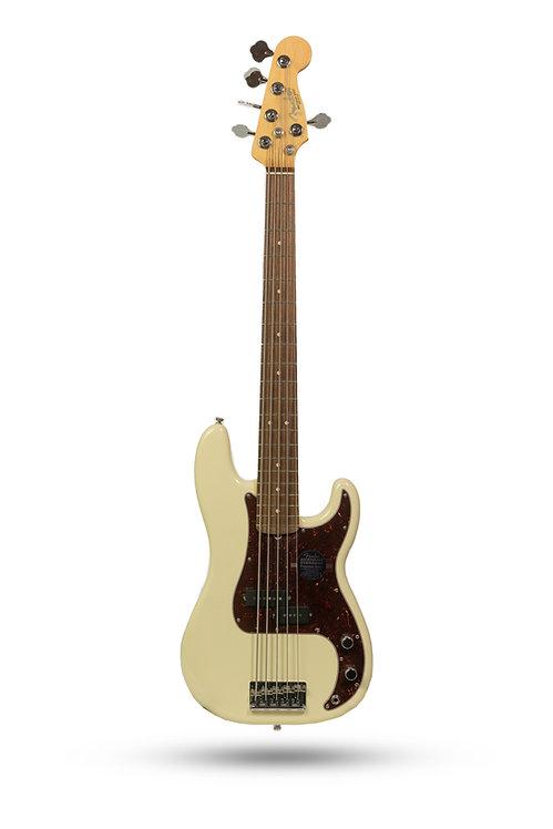 New Fender American Standard Precision Bass V Olympic White