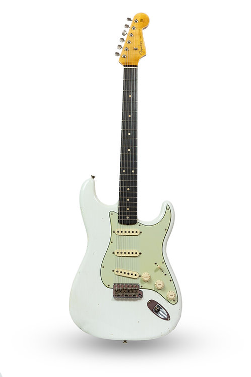 New 2018 Fender Custom Shop '60 Stratocaster Journeyman Relic Olympic White