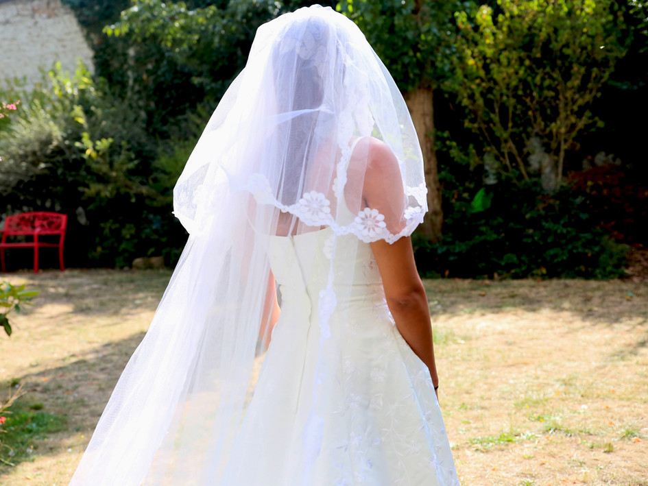 Robe mariée voile