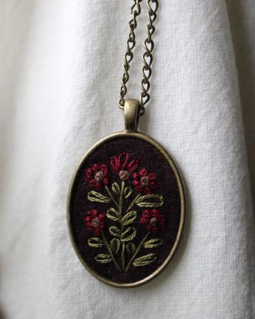 Plum Oval Necklace