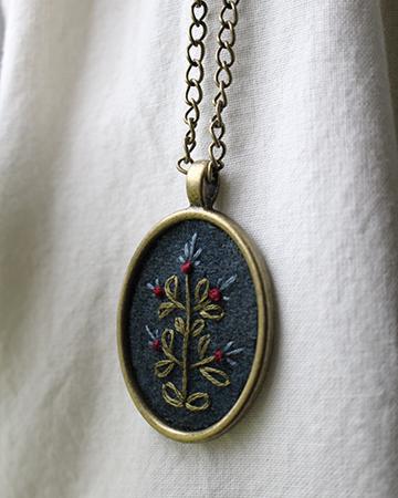 Blue Oval Necklace