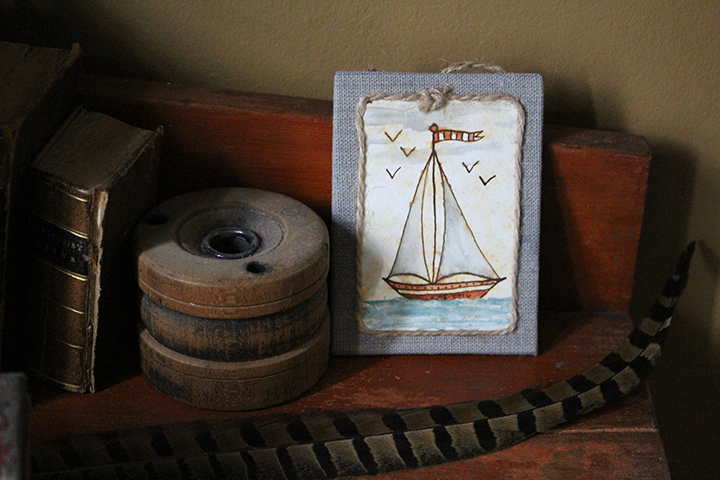 Sailboat Fraktur