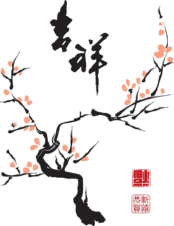 chinese-ink-painting-of-plum-tree-transl