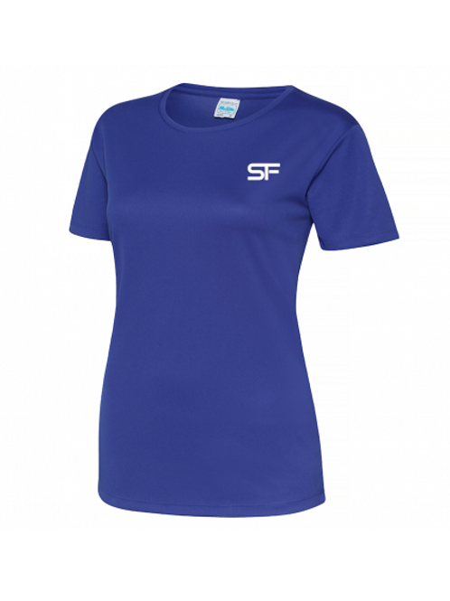 Spike Fitness Ladies Workout T-shirt (Blue)