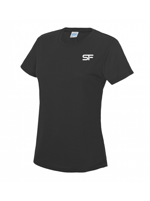 Spike Fitness Ladies Workout T-shirt (Black)