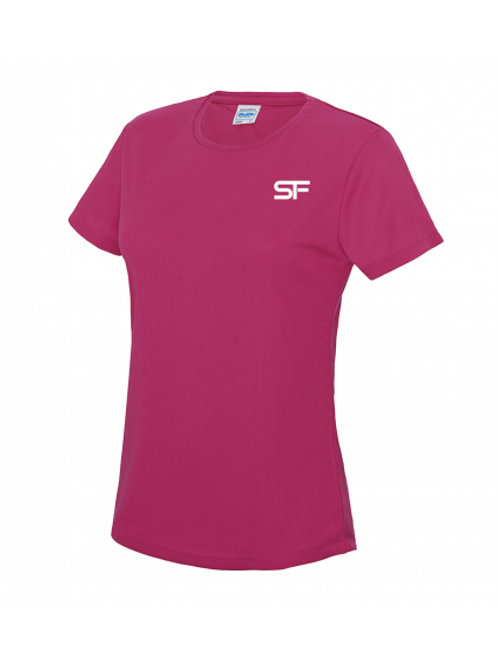 Spike Fitness Ladies Workout T-shirt (Pink)