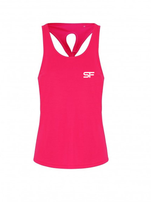 Spike Fitness Ladies Knot Vest Top (Pink!)