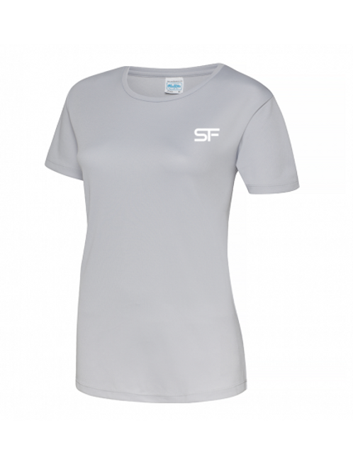 Spike Fitness Ladies Workout T-shirt (Grey)