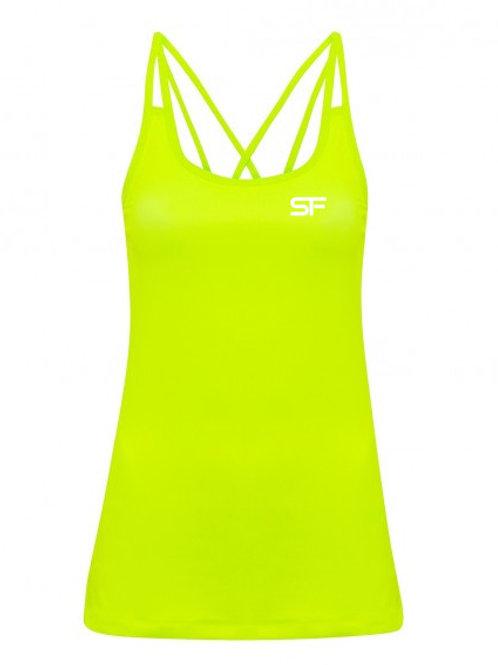 Spike Fitness Ladies Spaghetti Strap Vest (Yellow!)