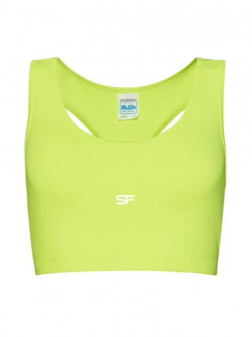 Spike Fitness Sports Crop top (Electric Yellow)