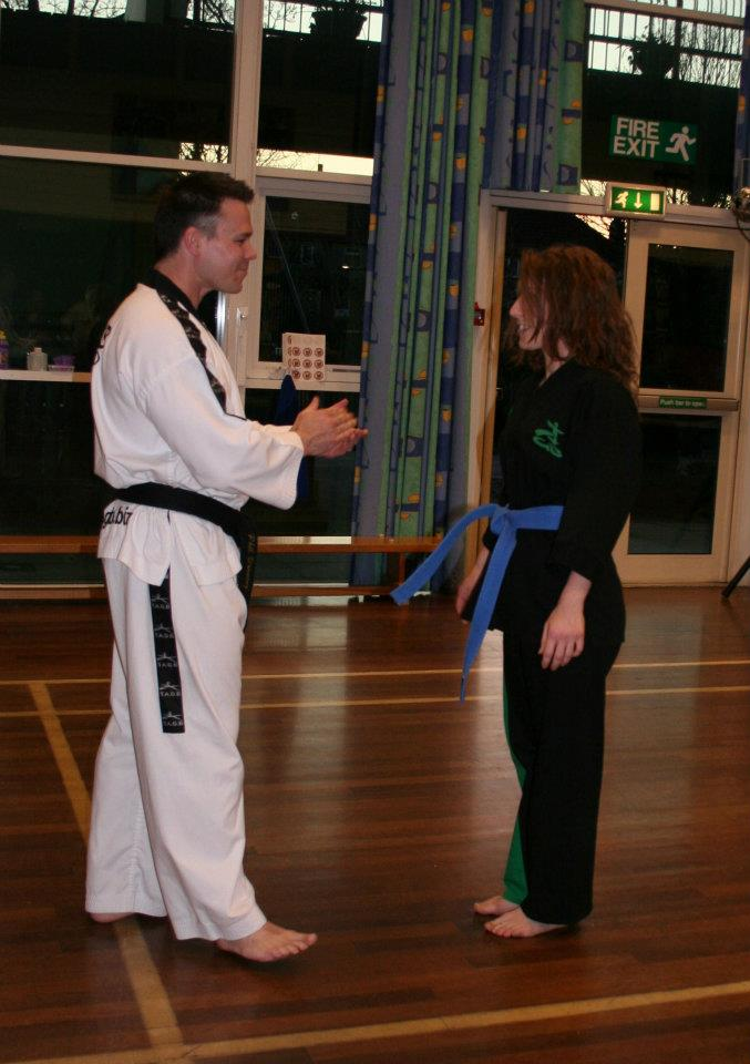 Phil giving me my blue belt