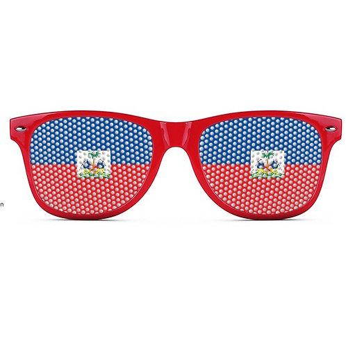 Haiti Flag Logo Lens