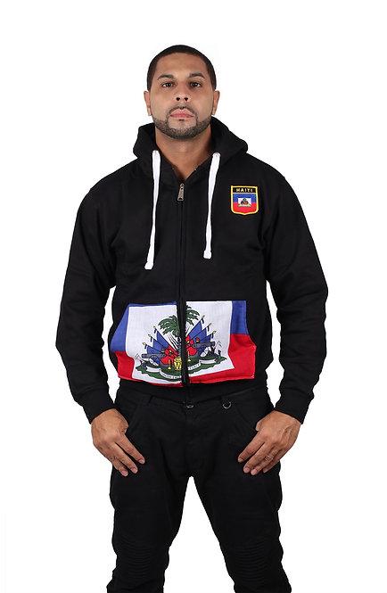Country Flag Zipper Hoodie