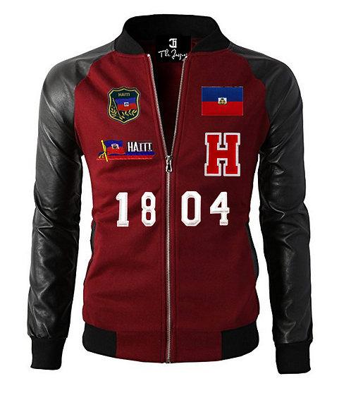 Pleather Sleeve  Varsity Jackets