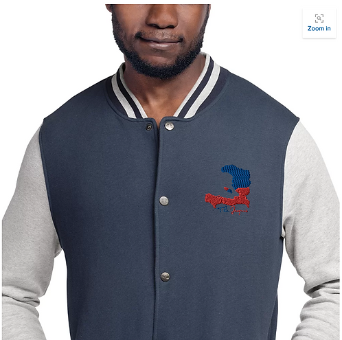 Haiti Embroidery Varsity Jacket
