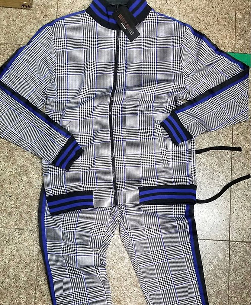 Plaid Sweatsuit