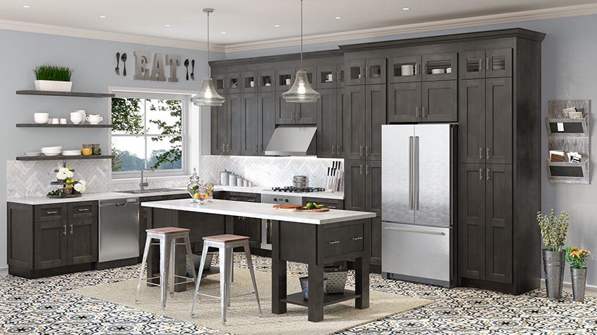 USCD shaker cinder kitchen