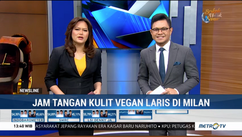 Metro TV - Jam Tangan Kulit Vegan Asal Indonesia Dipamerkan di Milan
