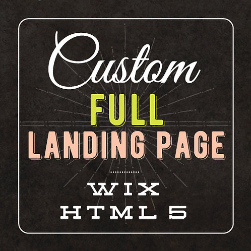 CUSTOM FULL LANDING PAGE // WIX HTML WEBSITE