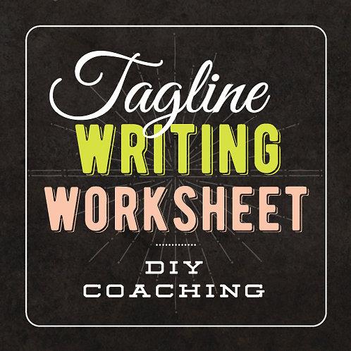 TAGLINE WRITING WORKSHEET