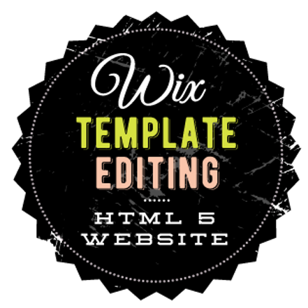 WIX TEMPLATE EDITING SERVICES //  HTML WEBSITE