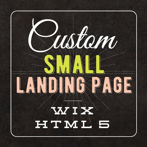 CUSTOM SMALL LANDING PAGE // WIX HTML WEBSITE