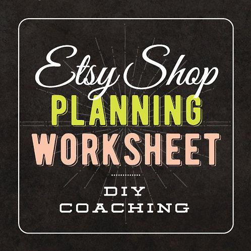 ETSY SHOP PLANNING WORKSHEET