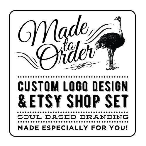 MADE TO ORDER CUSTOM LOGO DESIGN + ETSY SHOP SET