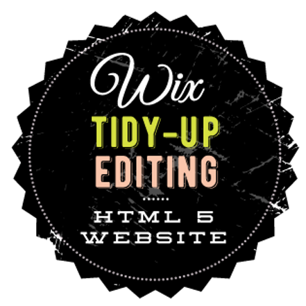 WIX TIDY-UP EDITING  //  HTML WEBSITE