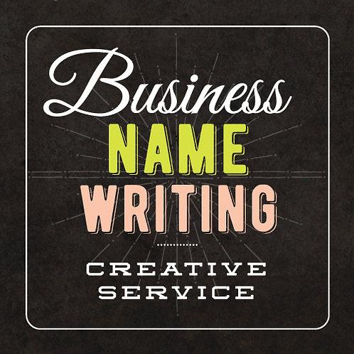 BUSINESS NAMING // WRITING SERVICE