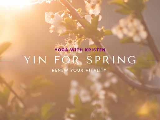 Yin Yoga for Spring