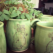 Green Beaver Island mugs for St. Patrick