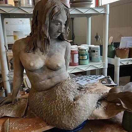 Mermaid sculpture #porcelain #mermaid #g