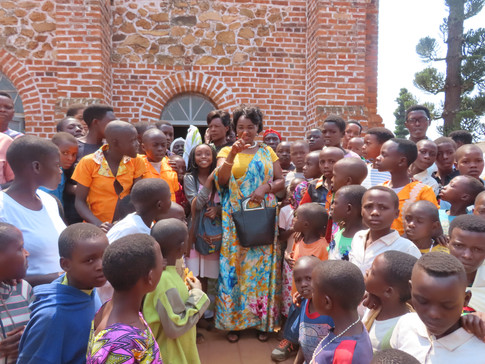 DWOM President/Founder with Congregation of the Church of Marangara of Province Ngozi