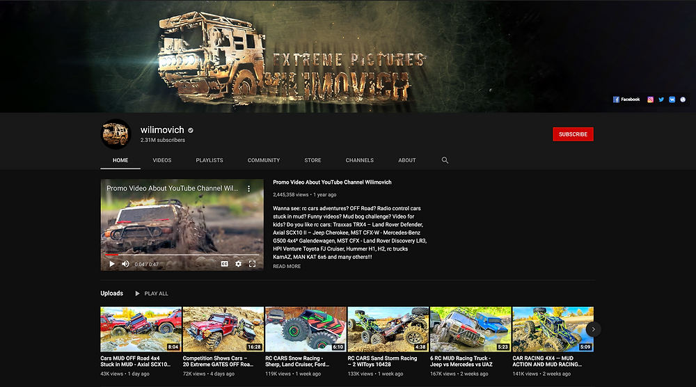 Wilimovich YouTube Channel