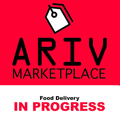 Ariv Marketplace Food Delivery Window Cling
