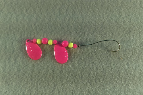 Pink & Chart Double Bladed Spinners