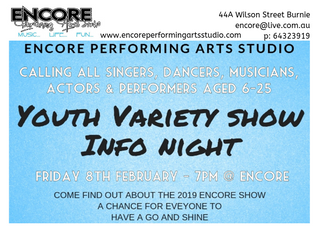 Youth Variety Show 2019 Information Night
