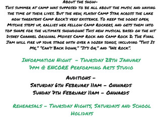 CAMP ROCK AUDITIONS AND INFO