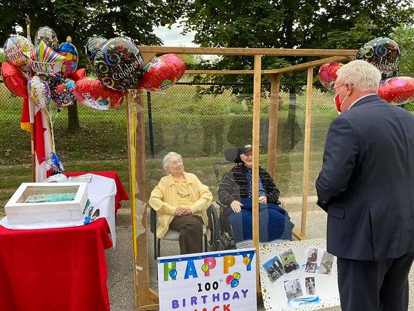 Jack Stinger's 100th birthday with John