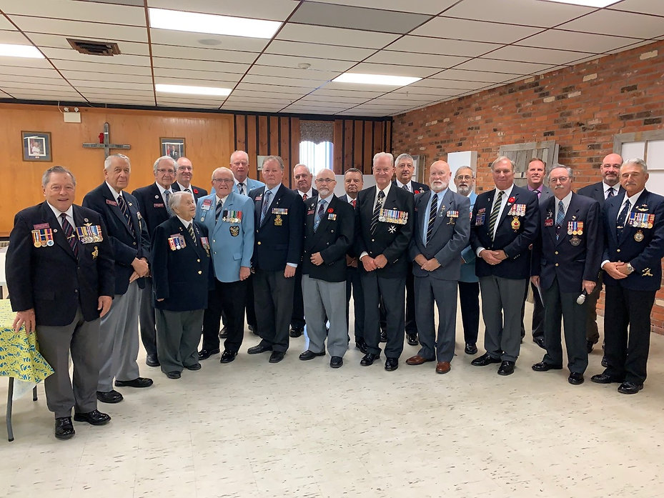 Members of the Veterans Club of Barrie w